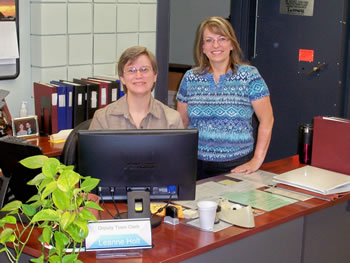 Betty Miles, Deputy Town Clerk and Colleen West, Town Clerk